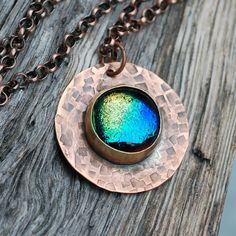 Dichroic glass and copper, Yummy