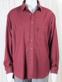Pendleton, mens XL, brick red shirt, with elbow pads. 1990s by…