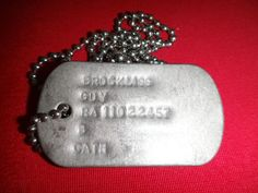 Vietnam War ID Dog Tag + Ball Chain Of A US Army Soldier Named BROCKLISS, GUY Soldier Love, Us Army Soldier, Dog Tags Military, Vietnam War, Ball Chain, Dog Tag Necklace, Guys, Ebay, Jewelry
