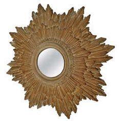Mid-Century Modern Fiberglass Composite Starburst Mirror