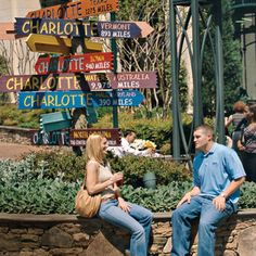 "The Green is uptown Charlotte's magical little secret.  Fantasy fish fountains, whimsical sounds, and ripe greenery are only a few of this location's most attractive features.  Large bronze book sculptures and quotes from famous authors advocate literacy. When looking for a place to sit and catch up on your reading, look no further. Try a ""Matilda Wong"" :gin, rum, Triple Sec, brandy, and a secret blend of juices"