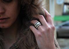 Sterling Silver Ring Silver ring Silver wide by TwoAndTheJewel