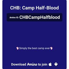 Here's an invite to my Amino— CHB: Camp Half-Blood http://aminoapps.com/c/CHBCampHalfblood  Best Amino ever