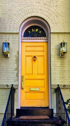 Yellow door in Georgetown, Washington DC