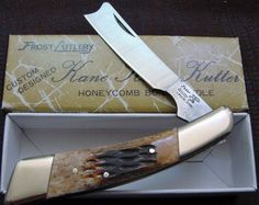 BLADE LIST - Knife, Sword, Blade FREE Classified ads: Vintage 1980s Frost Cutlery Razor Knife Jigged Honey Comb Bone Handle NOS NIB, Custom Folders Custom Folder Classified Ads Listing Details