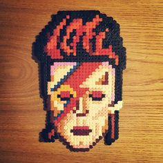 David Bowie (1947-2016) hama beads by mlle_cailloux