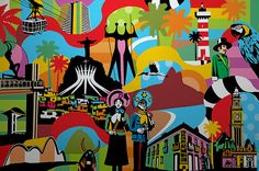 #Brasil - Pop Art - lobopopart.com.br #Brazil #PopArt #lobopopart