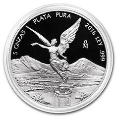 Mexican Libertad 5 oz Proof Silver Coin encapsulated Mexico 2016 collectible