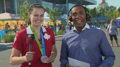 July 14 - Badminton - Women's - Doubles. Canada's Alex Bruce - Bronze.