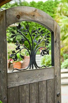 ♥️ Beautiful Garden Gate with ironwork.   #gardengate #gardens #ironwork