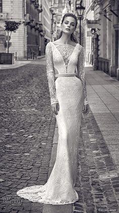 GALA by Galia Lahav Fall 2016 #bridal gowns elegant lace long sleeves sheath #wedding dress boat neckline art deco embellishment style 612  #weddings #weddinggown #weddingdress