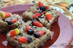 Mommy's Kitchen: Halloween Cookie Bars {My Go To Cookie Recipe}