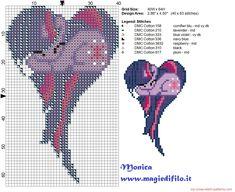 Twilight Sparkle heart cross stitch pattern
