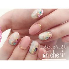 Semi-permanent varnish, false nails, patches: which manicure to choose? - My Nails Korean Nail Art, Korean Nails, Cute Nails, Pretty Nails, My Nails, Opal Nails, Manicure, Nagellack Trends, Japanese Nails