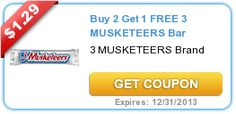Two more awesome resets: B2G1 Mars Singles and B2G1 3 Musketeers, plus a CVS B2G1 sale! - http://printgreatcoupons.com/2013/11/01/two-more-awesome-resets-b2g1-mars-singles-and-b2g1-3-musketeers-plus-a-cvs-b2g1-sale/