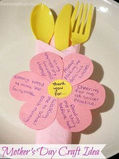Mother's Day Craft Idea - Personalized Napkin Ring