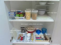 montessori practical life kitchen set up pantry organisation preschooler and toddler {An Everyday Story}
