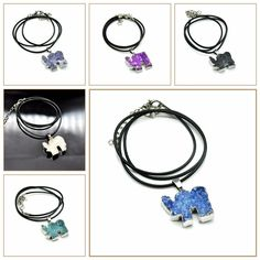 Yumten Natural Crystal Cluster Necklace Elephant Pendant Precious Sapphire  Superstar European Style Necklace 925 Silver Gemstone b726875dd875