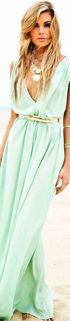 Mint and pretty♡♡♡♡♡ Mint Green Fashion, Colorful Fashion, Boho Fashion, Bohemian Style, Boho Chic, Mint Color, Fashion Boutique, Dress To Impress, Cool Outfits