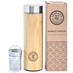 Vibrant All in ONE Travel Mug - Tea Infuser Bottle with 2 Piece Steeper Strainer MESH Filter - Insulated HOT Coffee Thermos - Cold Fruit Infused Water Leak Proof Double Wall Stainless Steel oz Fruit Infused Water, Infused Water Bottle, Water Bottles, Tea Diffuser, Tea Infuser Bottle, Coffee Thermos, Coffee Travel, Travel Mugs, Candles
