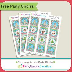 FREE Christmas in July Printables from #AmandaCreation