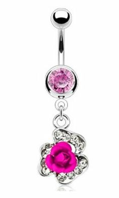 Gem Paved Enclosed Pink Metal Rose Dangle Navel Ring Steel Belly Button Piercing Jewelry w/Clear CZ Gems BYB Belly Rings,http://www.amazon.com/dp/B00CWZ0E20/ref=cm_sw_r_pi_dp_hrJMsb10G43CXTV9
