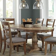 Best Farmhouse Dining Room Lighting Ideas – My Life Spot Extension Dining Table, Oval Kitchen Table, Kitchen Table Settings, Farmhouse Dining Table, Oval Dining Room Table, Rustic Farmhouse Dining Table, Wooden Dining Tables, Farmhouse Dining Room Lighting, Dining Table Design