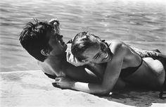 Romy Schneider & Alain Delon. La piscine.