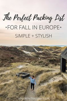 Traveling to Europe in the fall? Check out this comprehensive packing list for women that will help you pack light and stylishly. #EuropePackingList