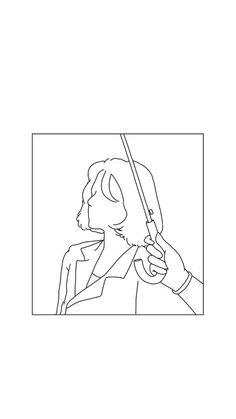 김태리 아이폰 배경화면 : 네이버 블로그 Cool Art Drawings, Easy Drawings, Drawing Sketches, Outline Drawings, Minimalist Drawing, Minimalist Art, Aesthetic Drawing, Aesthetic Art, Wallpaper Iphone Cute
