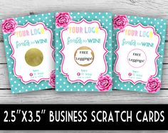 Win Free Stuff, Free Leggings, Scratch Off Cards, Pink Peonies, Note Cards, Stationery, Dots, Graphic Design, Birthday