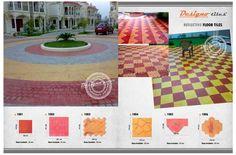 Reflective floor tiles