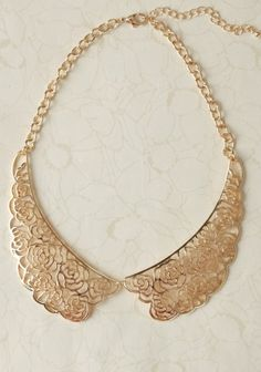 Rose Whisper Collar Necklace | Modern Vintage Jewelry