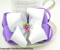 Boutique Hair Bow For Girls Pretty Hair Bow by SheWearsitWell,$10.00http://www.etsy.com/shop/SheWearsitWell?ref=si_shop