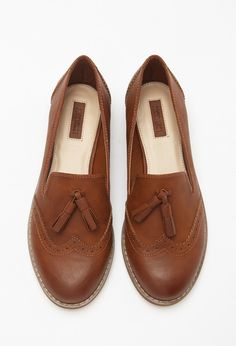 Faux Leather Tasseled Loafers | Forever 21 - 2000172200