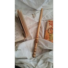 Wizard Wand knotty apple nice patina handle single piece of wood. (62 AUD) ❤ liked on Polyvore featuring home, home decor, apple home decor, handcrafted home decor, wood home decor, wooden home decor and handmade home decor