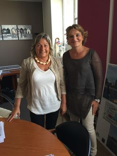 Natacha Bouchart, Maire de Calais et Marie-Sophie Lesne, Maire du Quesnoy, et Présidente de l'Association des espaces fortifiés - rencontre fin août 2015