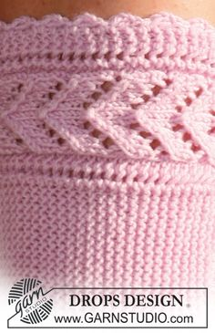 """DROPS sock knitted from side to side in """"Baby Merino"""". Size ~ DROPS Design I would make this pattern into a boot cuff Knitting Stiches, Lace Knitting, Knitting Patterns Free, Knitting Socks, Free Pattern, Drops Design, Crochet Socks, Knitted Hats, Knit Crochet"""