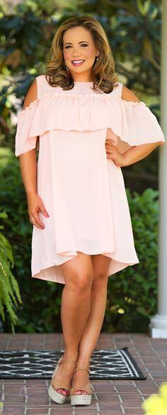 Sashay My Way Dress - Peach - Perfectly Priscilla Boutique