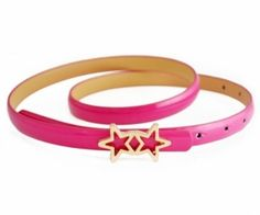 This waist belt crafted in PU, featuring a slim cut, star decoration buckle fastening to front. spenditonthis.com