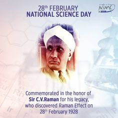 NIMCJ - Freedom of Expression pays homage to Indian Physicist Sir Chandrasekhara Venkata Raman and other geniuses for their contributions towards science on this National Science Day. Science Week, Preschool Science Activities, Science Chemistry, Science Gifts, Science Student, National Science Day, National Science Foundation, Elementary Science Classroom, Middle School Science