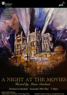 Music Durham Night at the Movies Concert Poster
