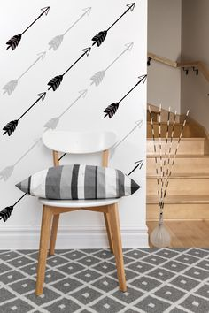 22 Arrow Wall Decals, Tribal Arrow Vinyl, Aztec Pattern Wall Decal, Nursery Arrow Decal, Southwestern Wall Decor, Removable Wallpaper Decal