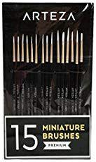 Detail Paint Brush (Set of Artist Brushes Arteza Acrylic Paint Mediums, Acrylic Paint Brushes, Small Paint Brushes, Nail Brushes, Watercolor Brushes, Watercolors, Glow Stick Jars, Glow Jars, Water Brush Pen