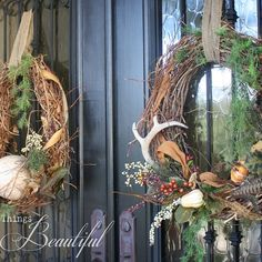 Fall Wreath and Porch Decor