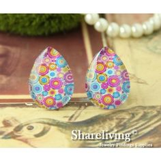 Teardrop Glass Cabs by Shareliving on framestr.com Jewelry Findings, Pendants, Beads, Brooches, Charms, Handmade, Beading, Jewelry Accessories, Hand Made