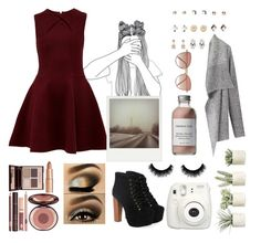 """🌃"" by amelie-me ❤ liked on Polyvore featuring Jeffrey Campbell, Ted Baker, Allstate Floral, Charlotte Tilbury, French Girl, Polaroid, Cutler and Gross, Wet Seal and Fujifilm"