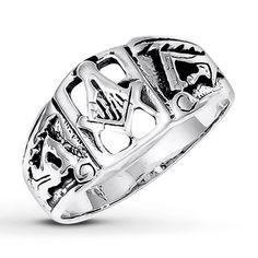 Men's Masonic Ring Sterling Silver  Very nice silver design, and cheap at $55  http://www.kay.com//en/kaystore/mens-masonic-ring-sterling-silver