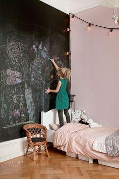 Chalkboard Wall // kids bedroom decor ideas and inspiration