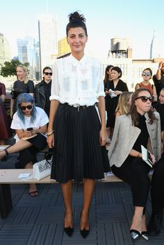 f0389de55c253 Giovanna Battaglia - Sophie Theallet - Front Row - Spring 2016 MADE Fashion  Week - September